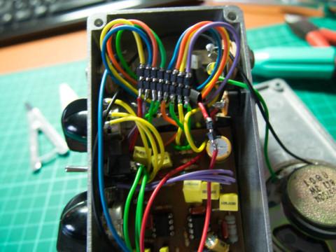 自作ハイブリッドアンプの改造