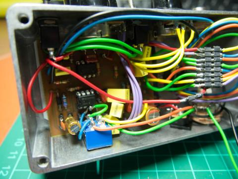 プリアンプアウト、スピーカーアウト切り替えスイッチ増設