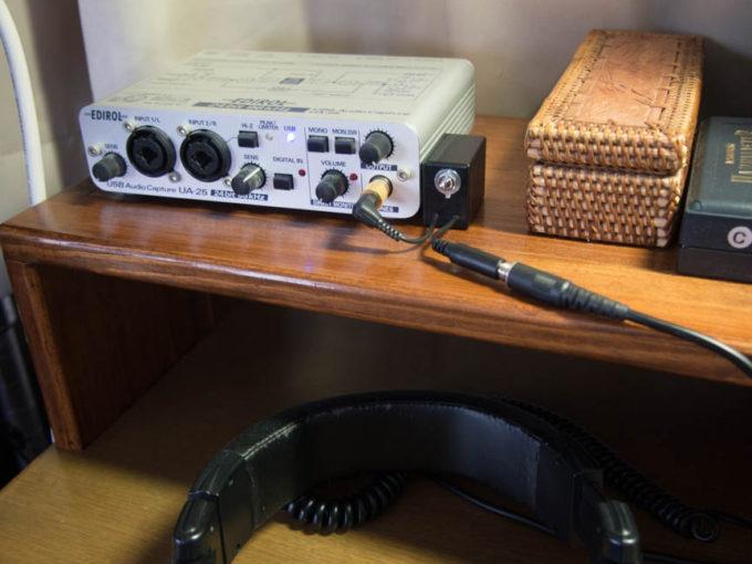 ヘッドフォンミュートスイッチアダプター
