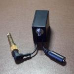 自作『ヘッドフォンミュートスイッチアダプター』In-line headphone mute switch