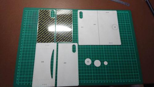 レザークラフト型紙スマホケース