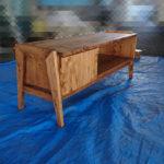 【木工DIY】檜集成材無垢板でテレビボードを自作する