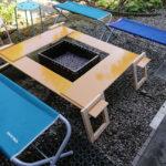 キャンプ、バーベキュー用の囲炉裏テーブルを作ろう