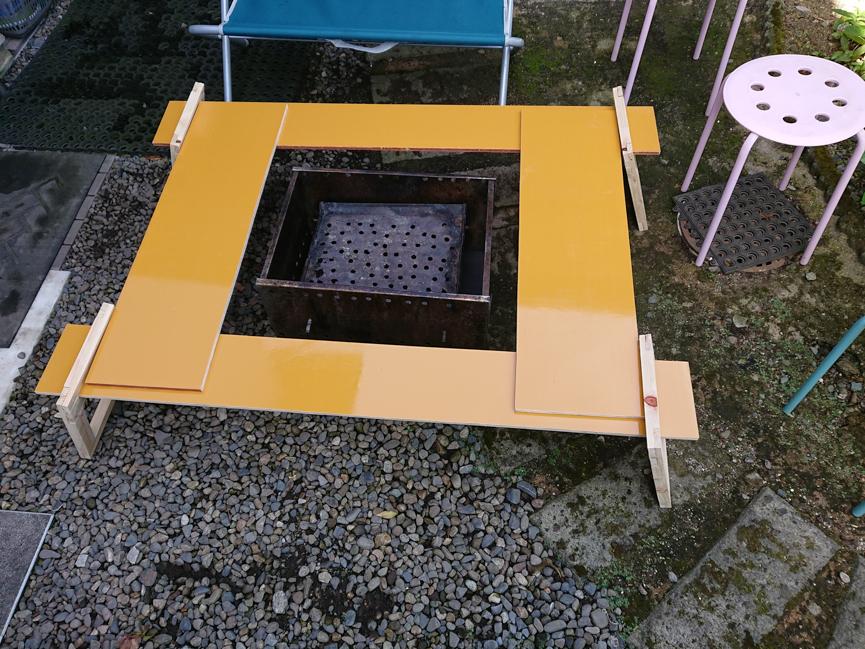 囲炉裏テーブル自作